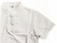 チャイナ風ポロシャツ:白